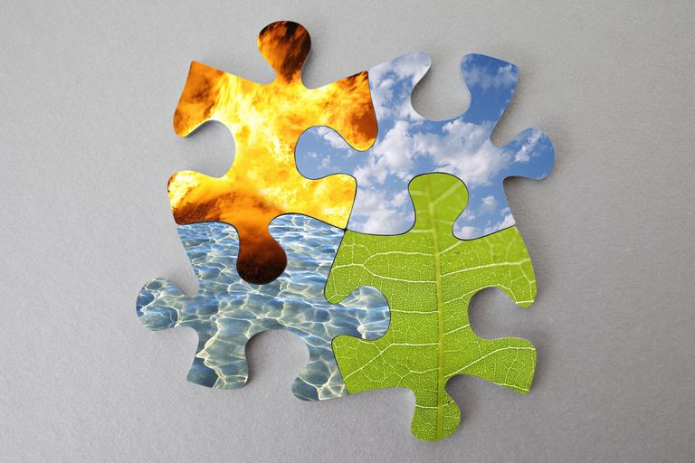 elements joined as a puzzle