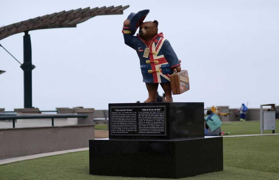 Paddington Bear statue in Peru