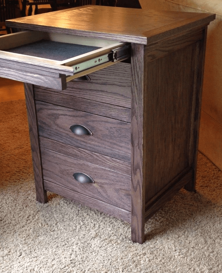 Picture of a nightstand with a hidden drawer