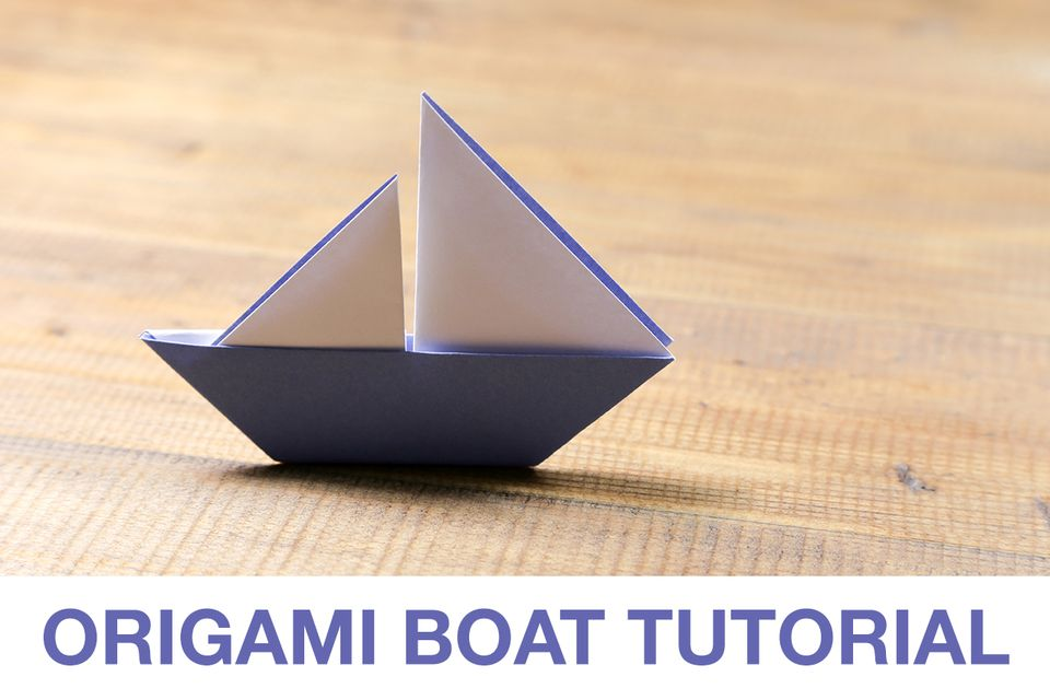 Learn How To Make A Cute Origami Sail Boat