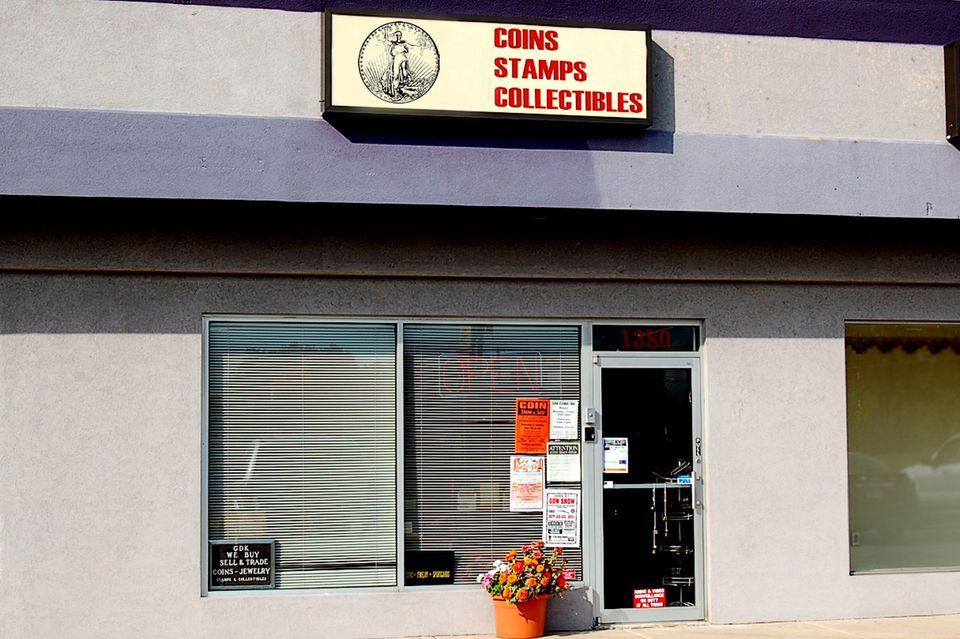 A typical local coin shop.