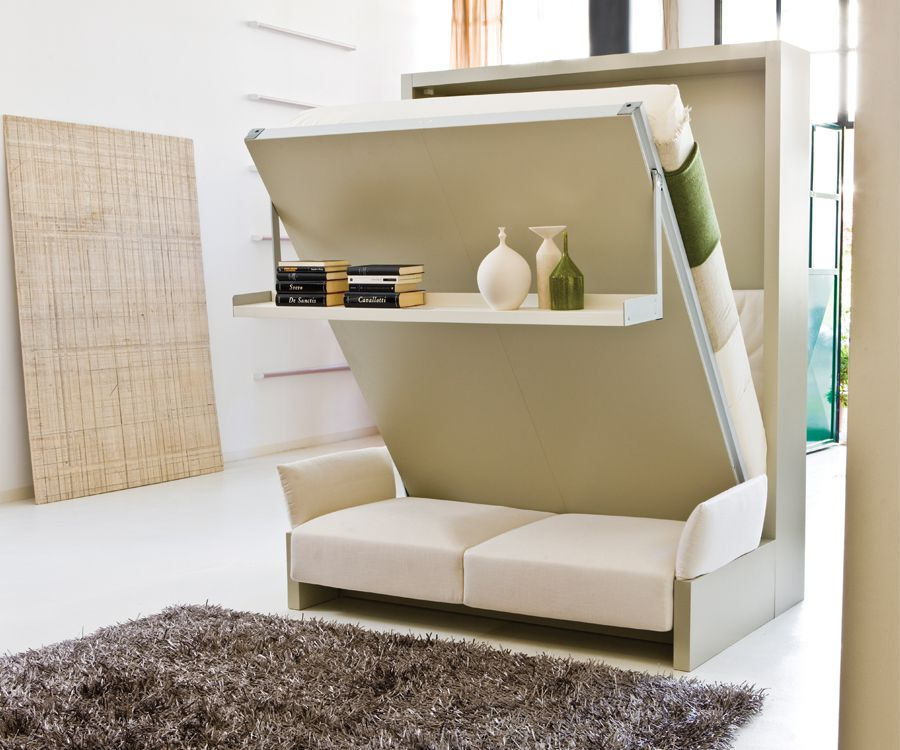 9 transforming furniture solutions for small space living for Small den furniture layout