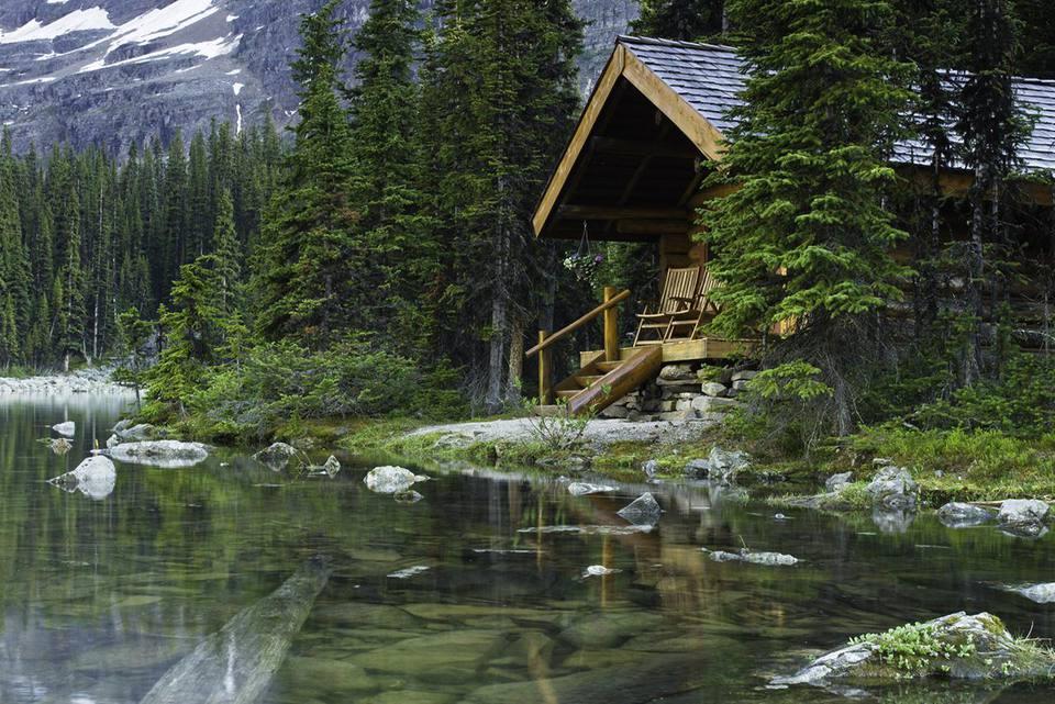 Log Cabin at Lake O'Hara, Canada