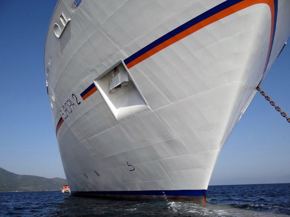 Europa 2 cruise ship hull