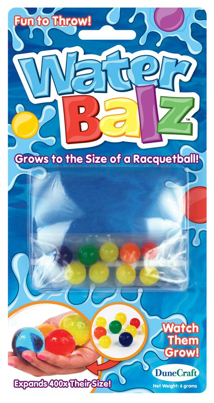 Water Balz can grow to 400x their size