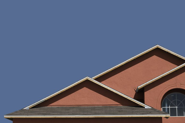 A new home with four roof lines and four separate eaves