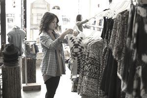 Two women shopping.
