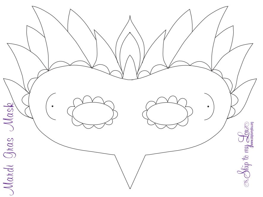 19 free mardi gras mask templates for kids and adults pronofoot35fo Choice Image