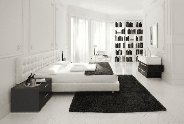 black and white modern bedroom ways to use white in a bedroom 18340