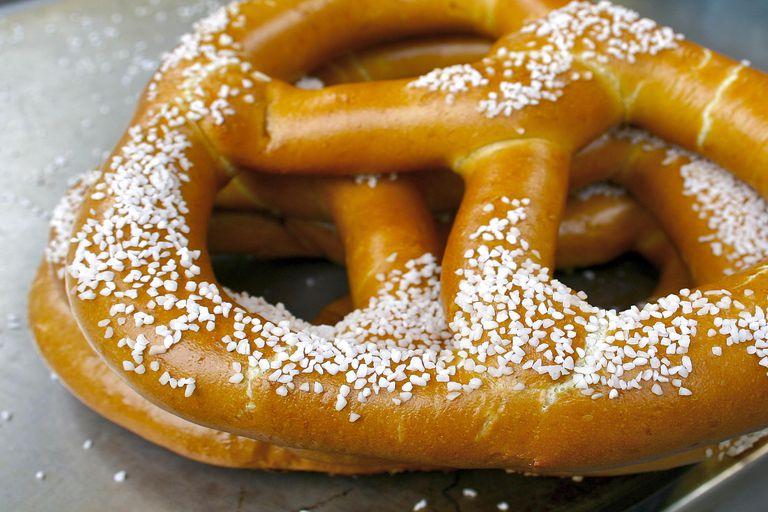 A New York style soft pretzel.
