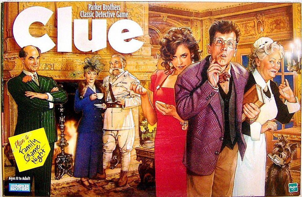 The classic board game of Clue