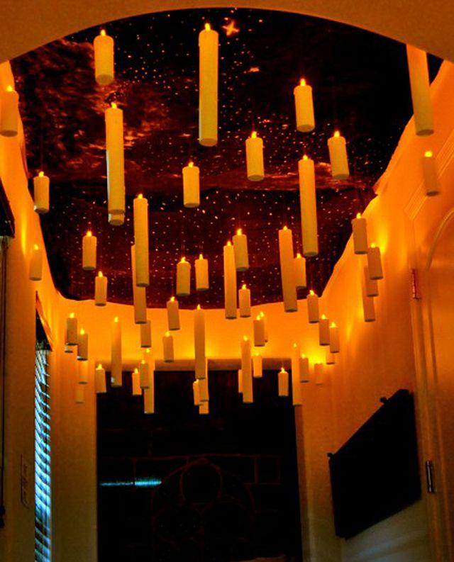 diy halloween lighting. diy floating candles diy halloween lighting