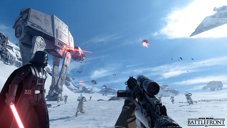 SW Battlefront screen
