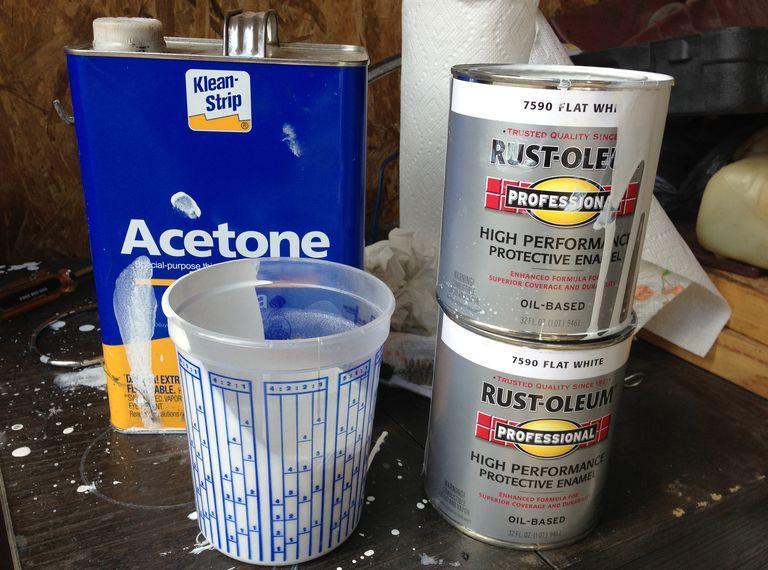 Getting ready to spray primer