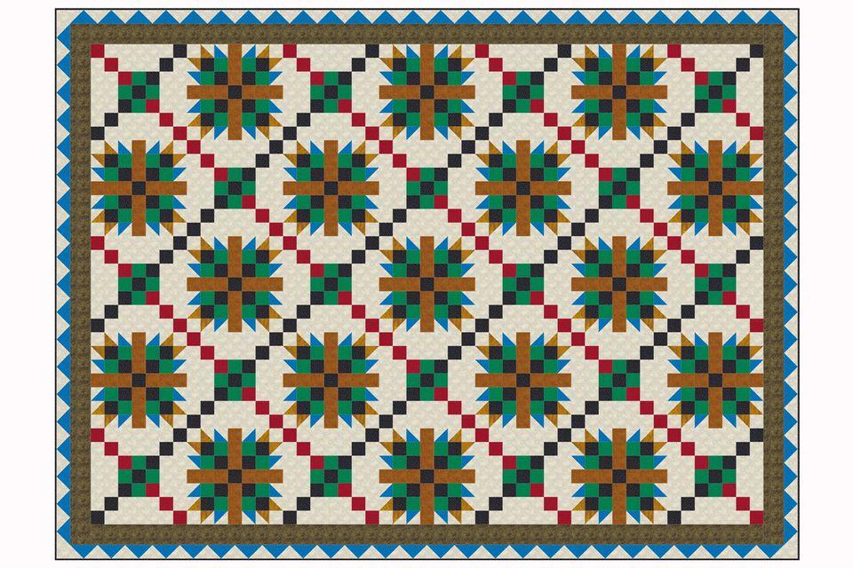Criss-Crossed Tea Rose Quilt Pattern