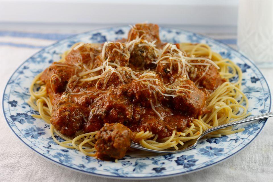 Rich Spaghetti and Meatballs