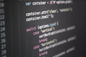 Full Frame Shot Of Program Codes On Screen