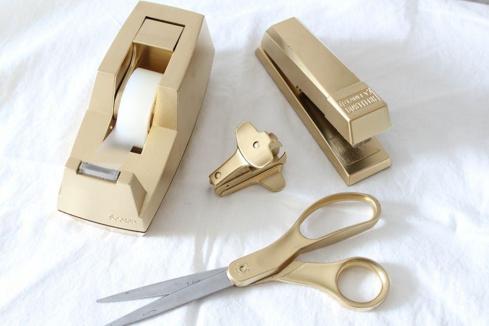 gold office supplies