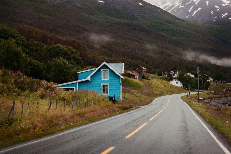 road in Norway, finmmark