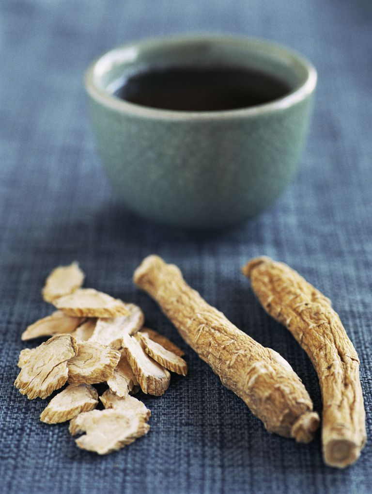 ginseng root with tea