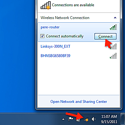 Image result for windows 7 connect to wifi