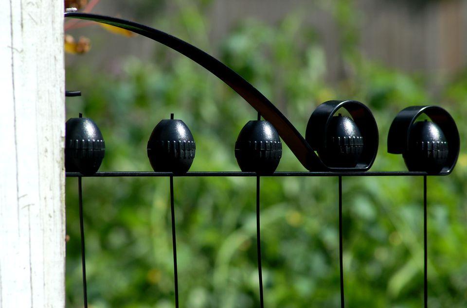Adjustable garden trellis.