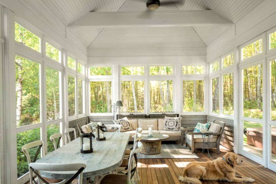 glassed in porch