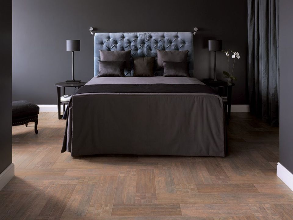 tile solutions for great bedroom floors. Black Bedroom Furniture Sets. Home Design Ideas