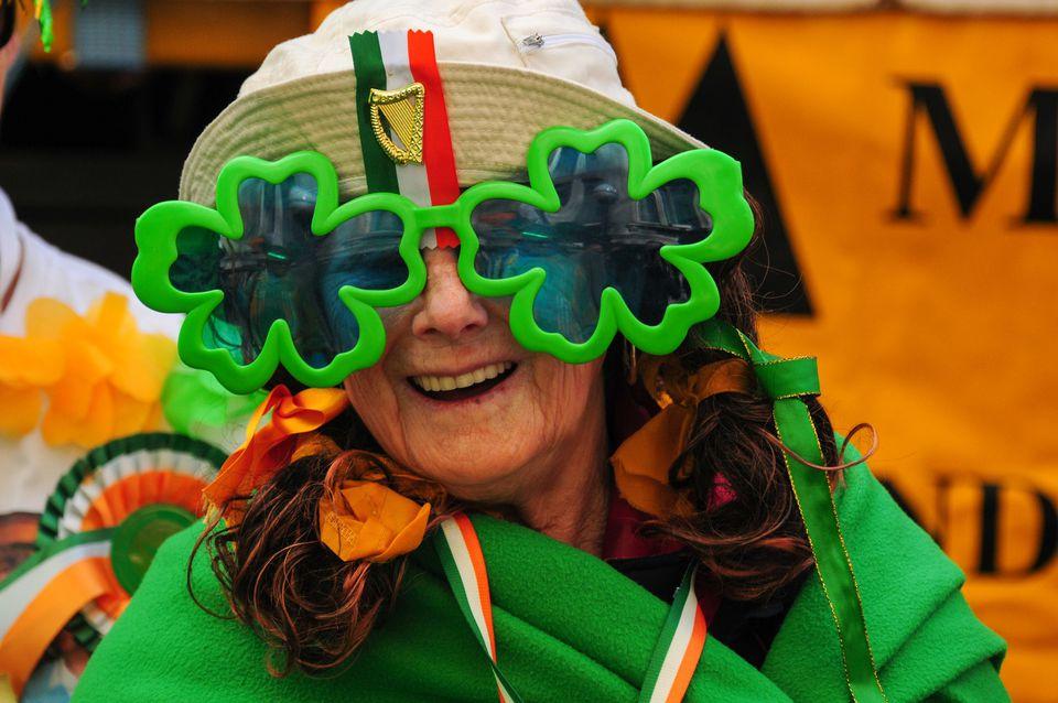 Woman Celebrating St. Patrick's Day