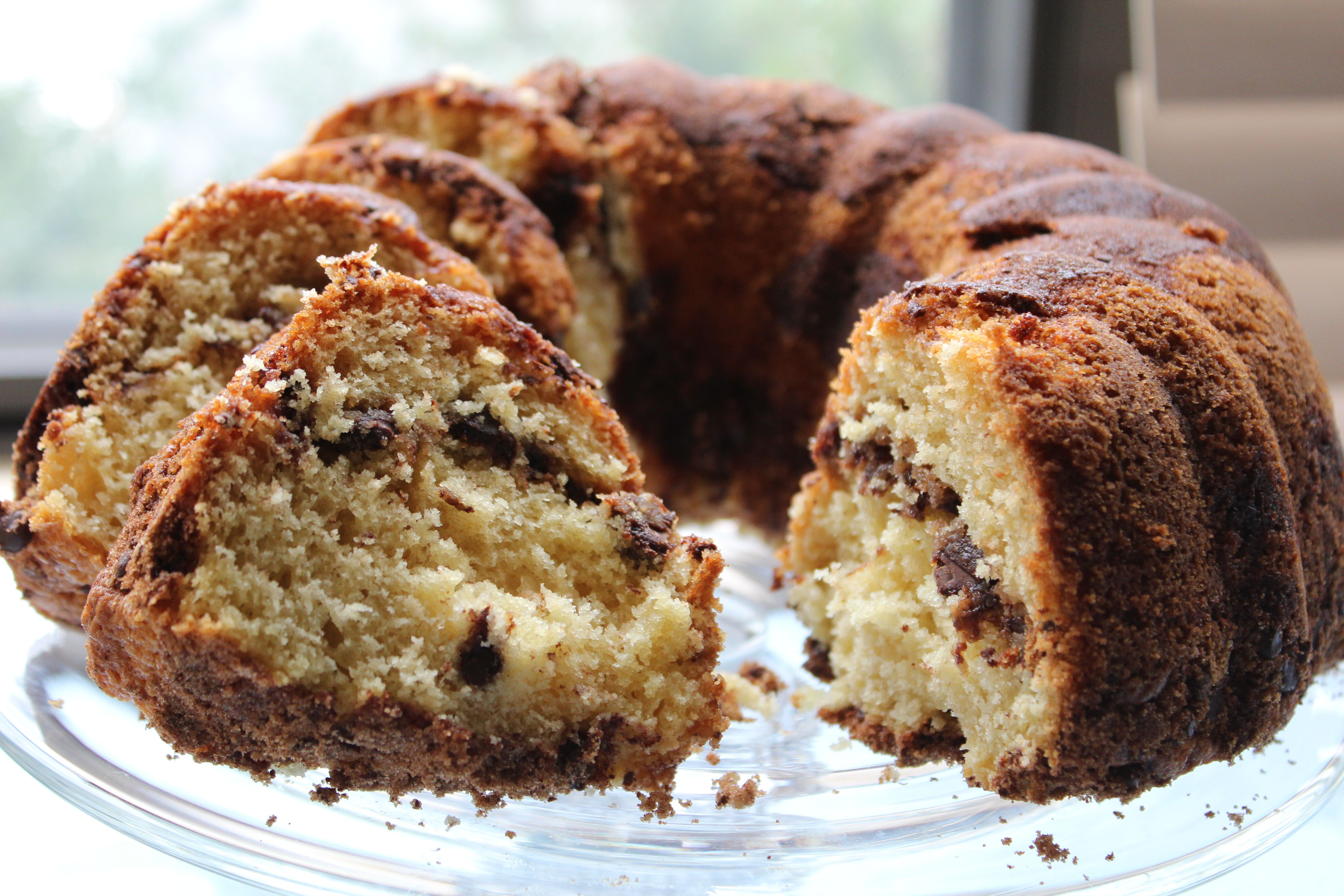Chocolate Chip Sour Cream Coffee Cake Recipe