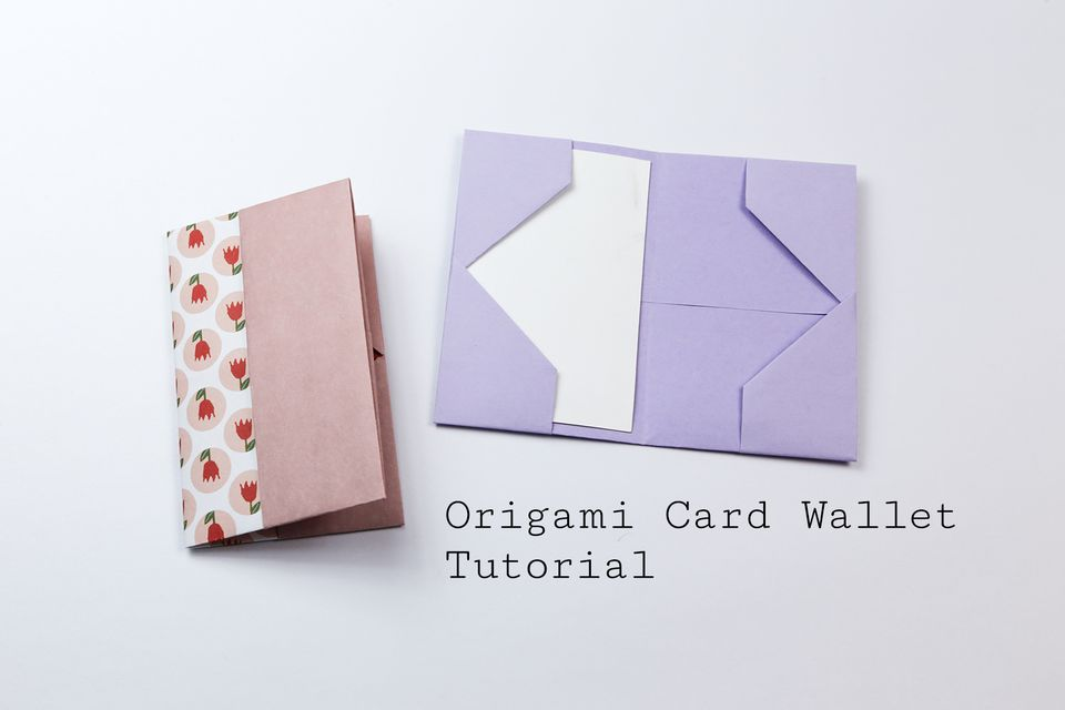 easy origami card case