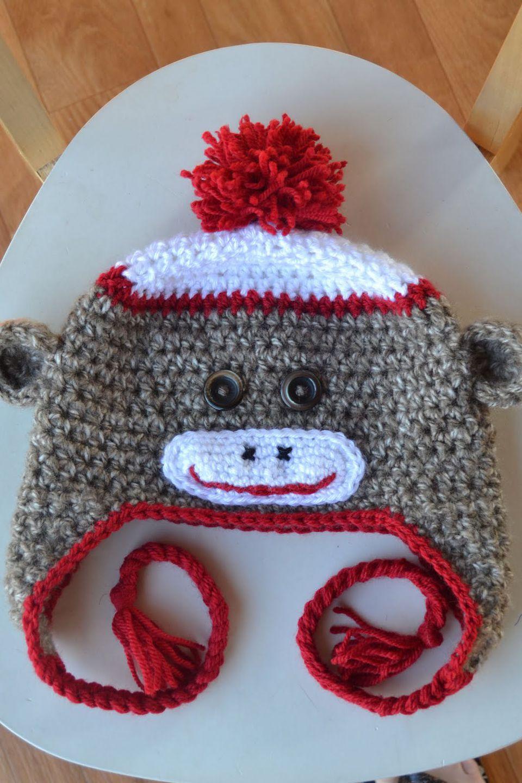Sock Monkey Hat Free Crochet Pattern