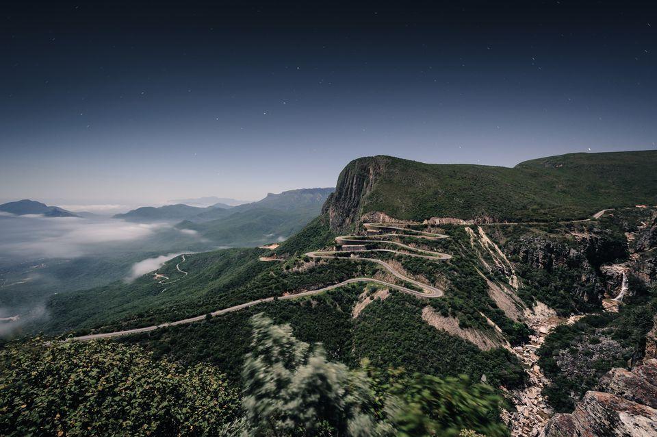 The Serra da Leba road in the province of Huila in Angola near the town of Lubango.