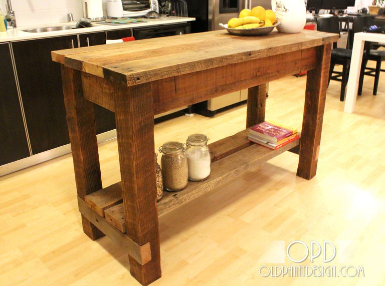 Old Paint Design's Free Kitchen Island Plan