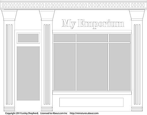 Shop outline used to experiment with exterior paint designs.