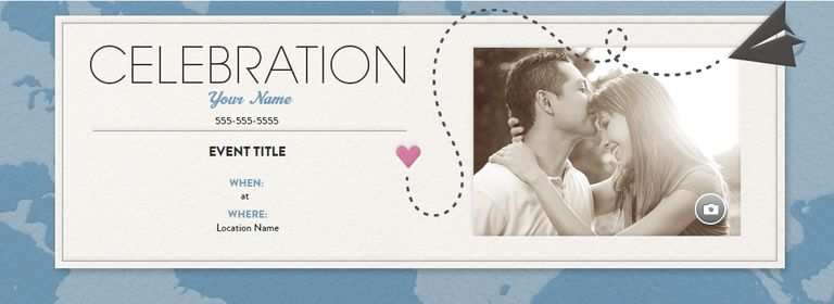 an online wedding invitation with a paper airplane and a heart evite - Evite Wedding Invitations