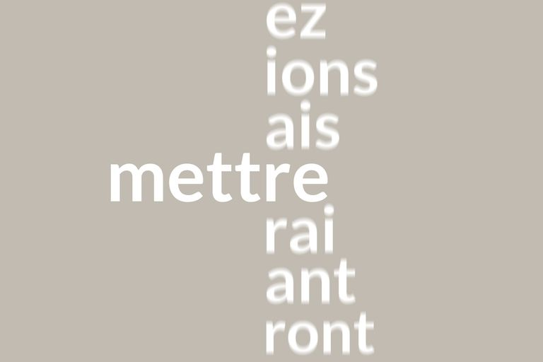 French conjugation mettre