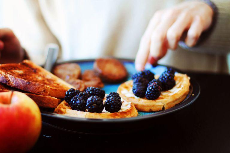 Healthy Waffle Breakfast