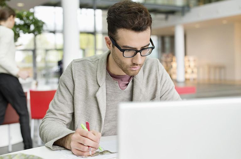 Male designer working in an office