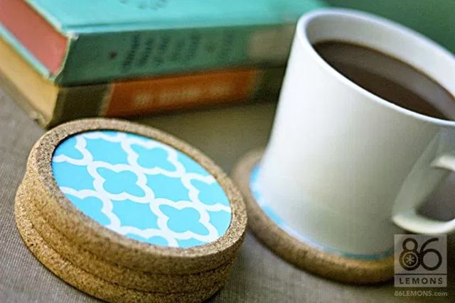 contact paper coasters