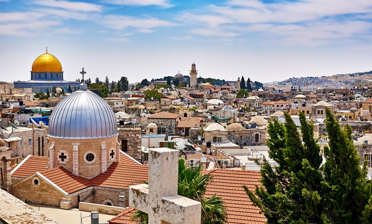 Jerusalem panoramic roof view