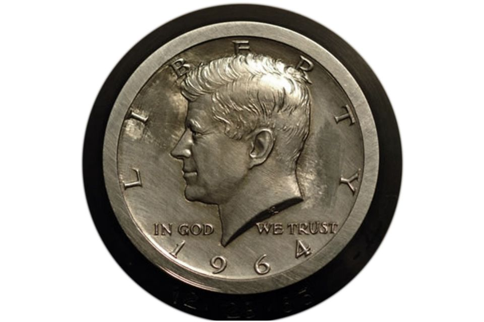 Original Hub for the 1964 Kennedy Half-Dollar