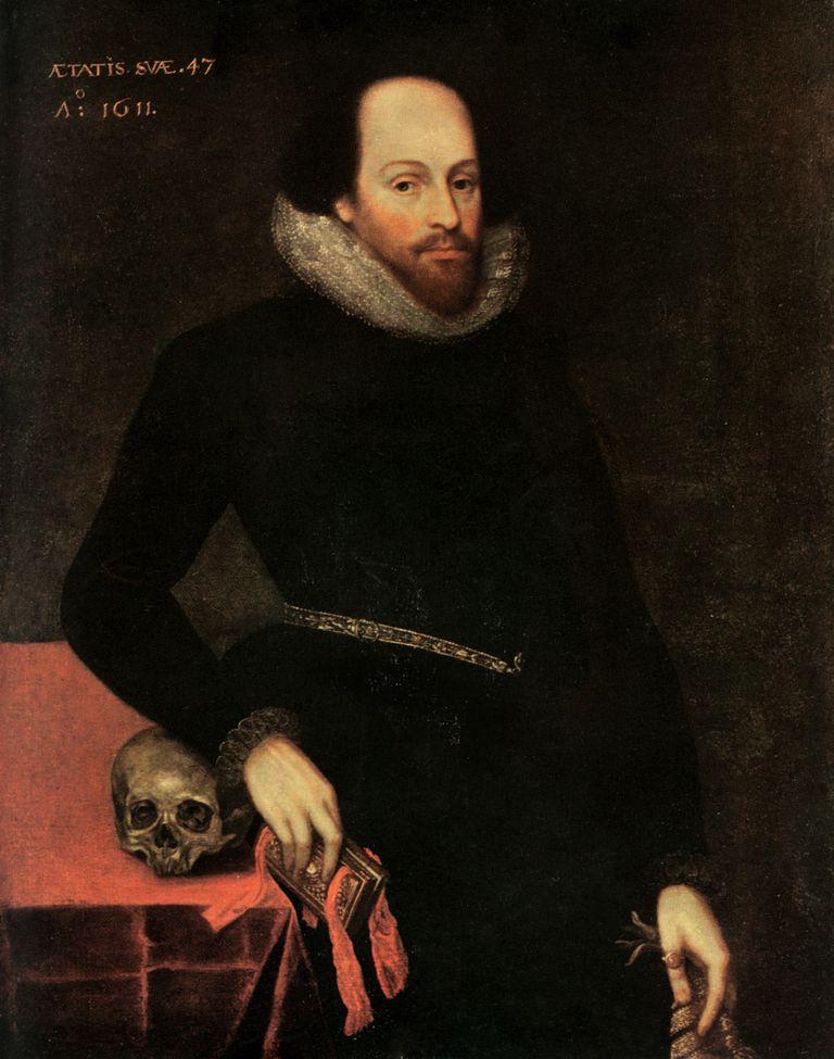 The Ashbourne Portrait of Shakespeare, 16th century.Artist: Cornelius Ketel