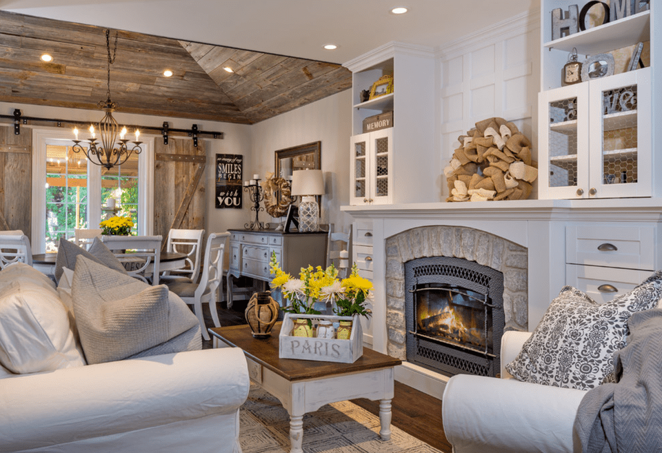 20 farmhouse style living rooms for Classic farmhouse