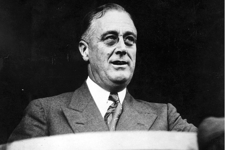 circa 1932: The American statesman and 32nd American President Franklin Delano Roosevelt (1882 - 1945).