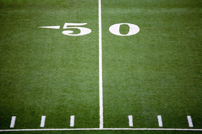 The 50 yard line.