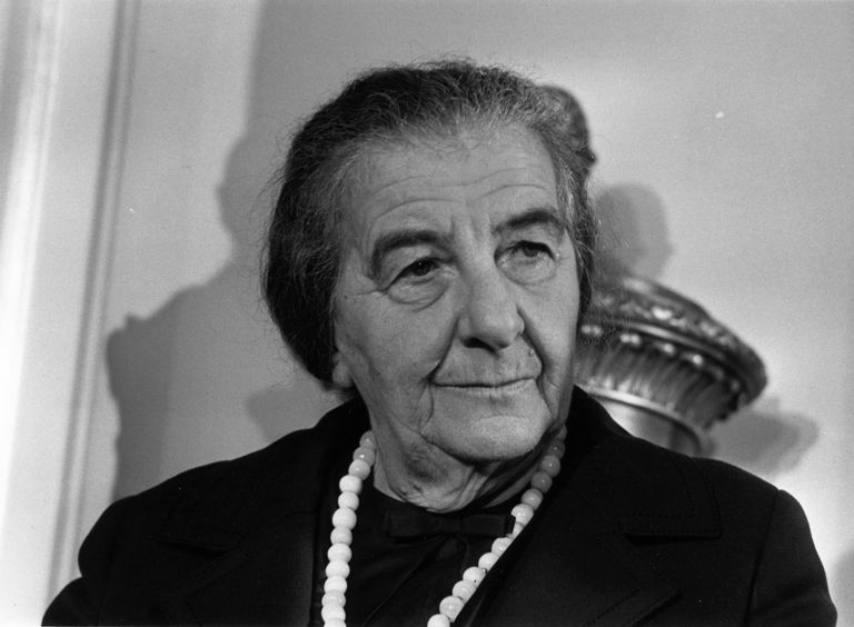 A picture of Israeli Prime Minister Golda Meir.