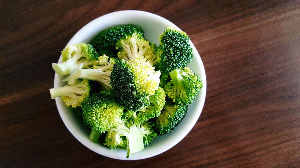 Close-Up Of Broccoli In Bowl