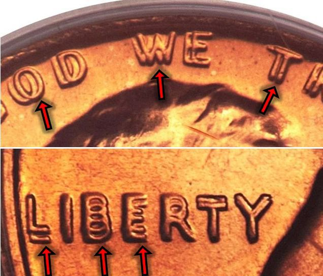 1972 Lincoln Memorial Penny Doubled Die Obverse Variety
