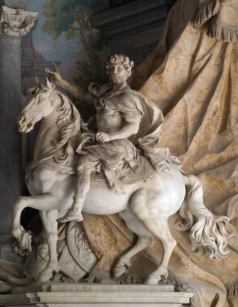 18th Century statue of Charlemagne in the Vatican